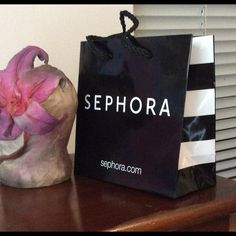 Sephora gift bag Sephora gift bag. Small 6x6x3 in black. I will be happy to answer any questions Sephora Accessories