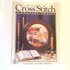 Cross Stitch & Country Crafts Magazine Christmas November December 1988