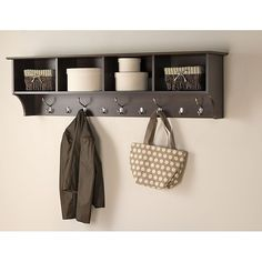 Great way for entry way organization. Use for purses, umbrellas, mail, jackets