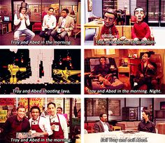 Troy and Abed in the mooorning! My favourite part of the show. :)