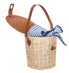 Try a wicker basket as a hand bag and you'll feel instantly younger and more relaxed.
