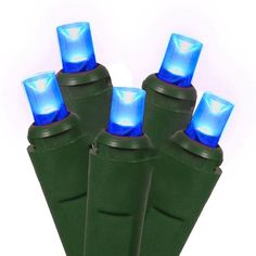 Set of 50 Commercial Grade Blue LED Wide Angle Christmas Lights - Green Wire by HUB. Save 35 Off!. $14.98. Set of 50 Commercial Grade LED Wide Angle Christmas Lights Item #50L5MM6-B/G Features:Color: blue bulbs / green wire Number of bulbs on string: 50 Bulb size: concave wide angle (5mm)Spacing between each bulb: 6 inches Lead length: 6 inchesTail length: 6 inchesLighted string length: 24.5 feet (7.5m) Total string length: 25.5 feet (7.77m) Wire gauge: 22Additional product features:Heavy...