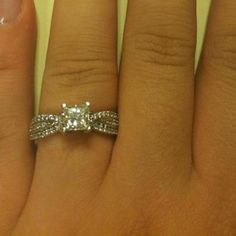 Sidestone Engagement Ring From Heather Scobee