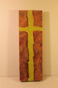 Mixed Media Cross Artwork by zilodys on Etsy, $18.00
