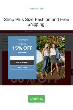 Best deals and coupons for Maurices Maurices Coupons, Discount Coupons, Buy One Get One, Coupon Codes, Plus Size Fashion, Coding, Free Shipping, Stuff To Buy, Shopping