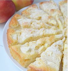 Appel-kokos-yoghurt-cake Kokos Desserts, Apple Desserts, Apple Recipes, Baking Recipes, Sweet Recipes, Cake Recipes, Snack Recipes, Snacks, Bread Cake