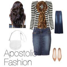 "Apostolic fashion ""Stripes and leopard"" by apostolicgirl85 on Polyvore"