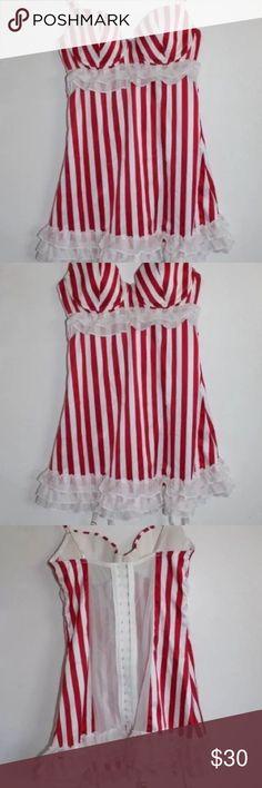 Candy Stripe Satin Garter Slip NWt, price firm Victoria's Secret Intimates & Sleepwear