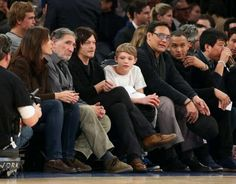 Norman & Mingus @ the Knicks game  12/11/13
