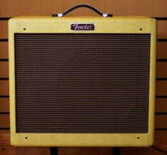 The best amp in the world- Fender Blues Junior Tweed- sounds pretty good in the standard black too Fender Guitar Amps, Acoustic Guitar, Guitars, Drum Shop, Drum Music, Cool Guitar, Les Paul, Playing Guitar, Music Stuff