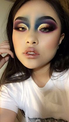 Creative Makeup Looks : Makeup, Alien Makeup, Beauty Makeup Goals, Makeup Inspo, Makeup Inspiration, Makeup Tips, Makeup Trends, Beauty Trends, Makeup Drag, Eye Makeup, Hair Makeup
