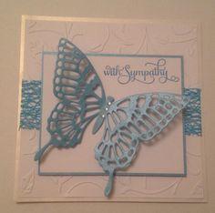 Handmade sympathy card by CardsCreatedByTrish on Etsy