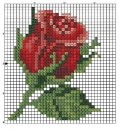 """Gallery.ru / Фото #77 - розочки - kfnnf [   """"beaded cross stitch tiny flower patterns 