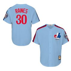Men Montreal Expos Tim Raines 2017 Hall of Fame Induction Cooperstown Patch  Light Blue Jersey 510dde18a