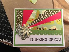 Fun card using scraps