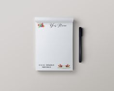 Stationery Note Pads - R+F Floral