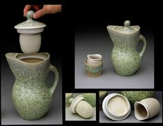 Gwendolyn Yoppolo is a rockstar... she made a removable tea strainer that fits into the lid of her tea pot!