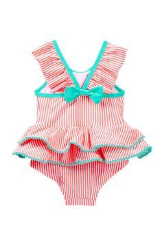 Seersucker Tutu One Piece Swimsuit (Baby Girls 3-9M) by Wetsuit Club on @HauteLook #babyboyswimsuit