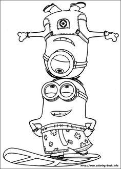 Dibujos de Minions para colorear -