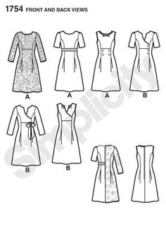 Want to make your own dress? Try Simplicity pattern #1754 from the Project Runway Collection.