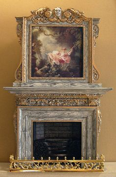 Sue Cook Miniatures Wow - Fireplace.  This is a miniature!!