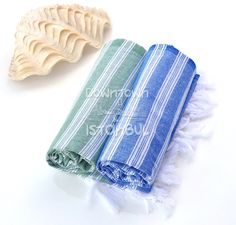 Beach Towel Set of 2 Turkish Bath Towel Fouta by DowntownIstanbul, $21.99