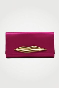 Carolina Lips Satin Clutch in Fuchsia, Fall 2012: Rendez-vous