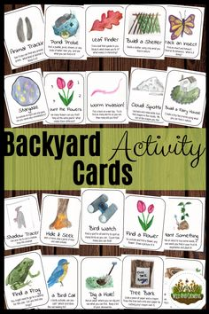 Backyard Activity Cards - Boredom Crushers for kids - Charlotte Mason Homeschooling - Are you running out of ideas to keep your high energy kids entertained? These backyard activity ca - Forest School Activities, Nature Activities, Steam Activities, Activities To Do, Outdoor Activities, Outdoor Learning, Toddler Activities, Energy Kids, High Energy