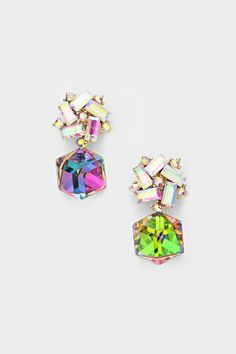 Crystal Valentina Earrings in Vitrail on Emma Stine Limited