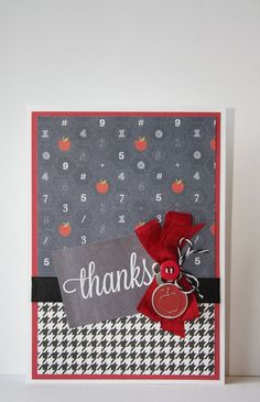 Teacher Thank You Handmade Card