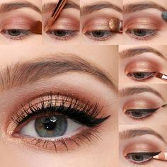 LuLu * s + How-To: + Party + Perfect + Eye + Makeup + Tutorial, makeup. - LuLu * s + How-To: + Party + Perfect + Eye + Makeup + Tutorial, makeup. Eye Makeup Steps, Smokey Eye Makeup, Eyeshadow Makeup, Makeup Tips, Makeup Art, Peach Eye Makeup, Easy Eyeshadow, Makeup Hacks, Makeup Trends