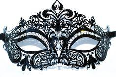 Masquerade mask Metal masquerade mask filigree by Stefanelbeadwork