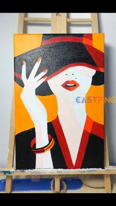 Cute Canvas Paintings, Canvas Painting Tutorials, Easy Canvas Art, Small Canvas Art, Acrylic Painting Canvas, Painting Abstract, Large Art, Amazing Paintings, Art Lessons