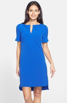 Women's Adrianna Papell Split Front Shirttail Shift Dress from Nordstrom on Catalog Spree