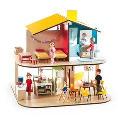 Maison de Poupées meublée Djeco pour enfant de 4 ans à 10 ans - Oxybul éveil et jeux