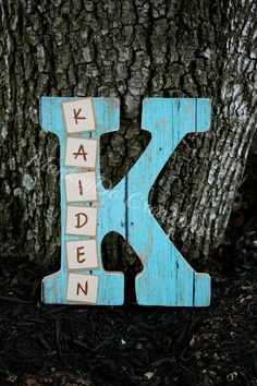 Want an alternative to the classic wooden letters? These single letters are perfect to hang on a child's door, on a wall or propped on a shelf and include the child's first name! I can also include birth information if you desire. Letters measures approximately 7.5x9.5. $15 PER letter. Ready to h...