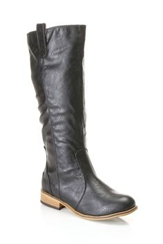 Bamboo Parksville 05 Boots In Black - Beyond the Rack