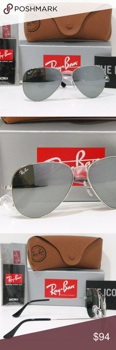 355fa0a548a RAY-BAN RB 3025 W3277 SILVER MIRRORED AVIATOR I have up for sale a new