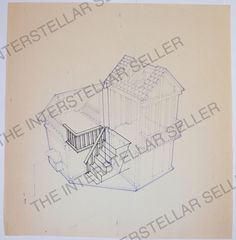 Original 1970's Mattel Barbie Dream House Concept Art Blueprint! Vintage Dolls 2