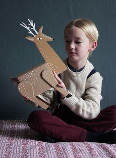 DIY reindeer gift box