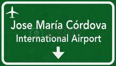 Autopista Medellín Colombia Internacional Aeropuerto Suscribirse Ilustración 2D
