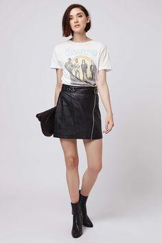 PU Biker Mini Skirt - Skirts - Clothing - Topshop USA