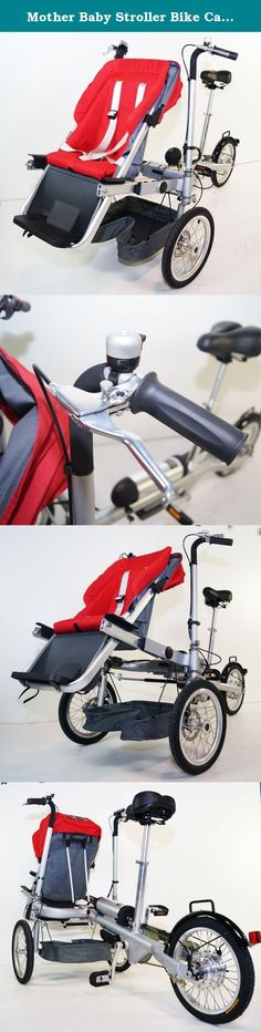 """Mother Baby Stroller Bike Carrier 3 Wheels Electric Bicycle. Bike For Jogging. rideONEcar. PLEASE VISIT MY STORE !!! MORE MODELS IN STOCK!!! ONLY BEST QUALITY & SERVICE! *Electric Mother Baby Stroller Bike(Aluminum) *Battery:Sansum,36V,250W,12a High-finish Aluminum 6061 frame *Wheel:16"""" aluminum wheels,single side hub with quick release *Tyre:16*1.5,rubber *Bell:Aluminum 600D Fabric baby seat,removable for easy cleaning, water proof *Colors:Red *Conversion time: 10 seconds *Install:5…"""