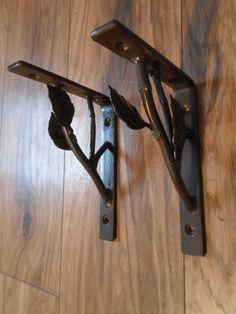 Wrought Iron Branch Shelf Bracket Kit