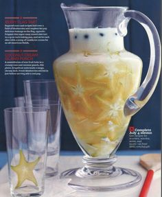 The Cutest 5-Ingredient Cocktail Ever! Coconut Cream Island Punch via @BHG featuring Simon Pearce Cavendish Pitcher