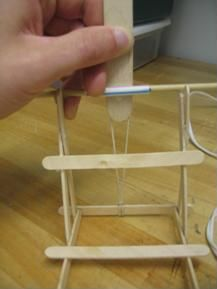 A photograph of Securing the tongue depressor to the wooden dowel/straw. Simple Machine Projects, Popsicle Stick Catapult, Simple Machines, Craft Projects For Kids, Summer Activities, The Magicians, School Stuff, Sticks, Photograph
