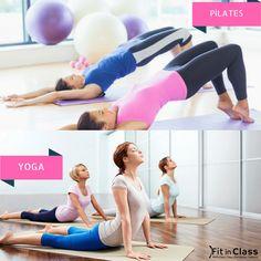 Haftanın ilk iş gününde pilatesle mi yoksa yoga ile mi rahatlamayı tercih edersiniz?  www.fitinclass.com