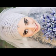 Disposable Face Mask with Earloop, Breathable and Comfortable for Personal Care Protection Masks) Muslimah Wedding Dress, Hijab Style Dress, Hijab Wedding Dresses, Bridal Dresses, Dress Wedding, Bridal Hijab, Hijab Bride, Wedding Hijab Styles, Hijab Makeup