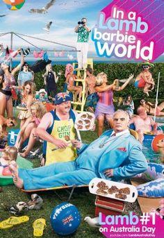 Josie's Juice: Barbie Girl Australia Day 2012 - Sam Kekovich Lamb Campaign