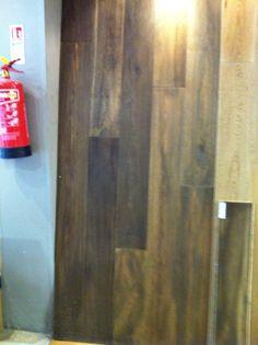 Smoked oak floor